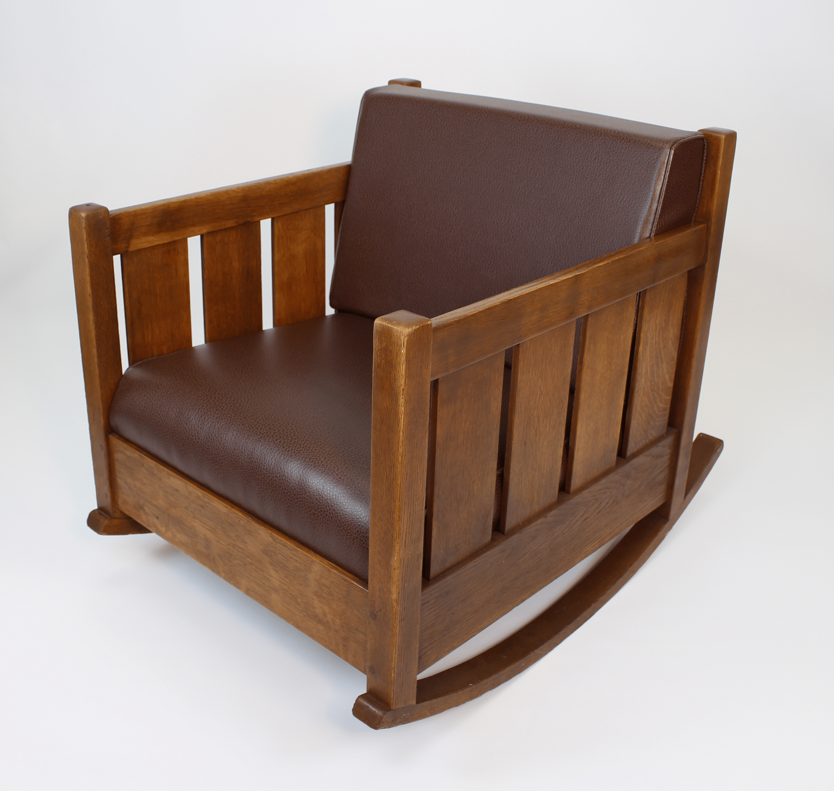 L Jg Stickley Cube Rocker No 429