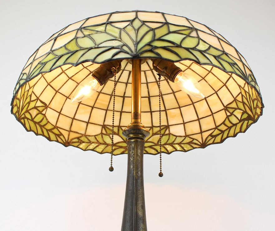Lamb Bros. Stained Glass Table Lamp